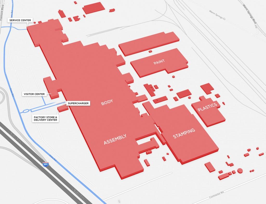 Tesla Factory Map