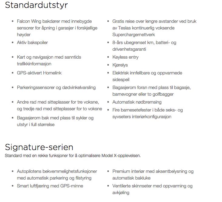 Model-X-DesignStudio-Standardutstyr